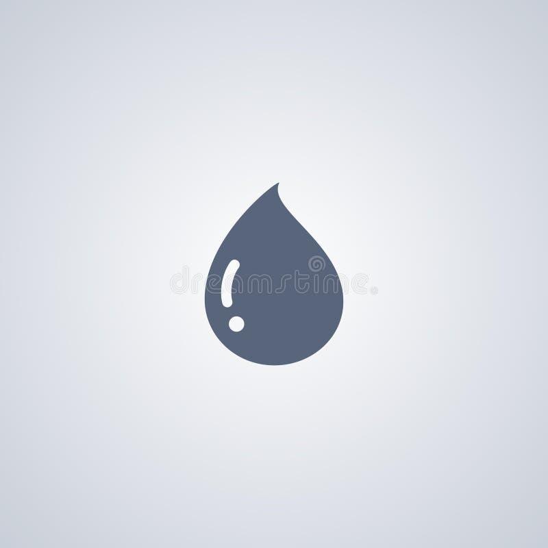 La goccia, combustibile, vector la migliore icona piana royalty illustrazione gratis