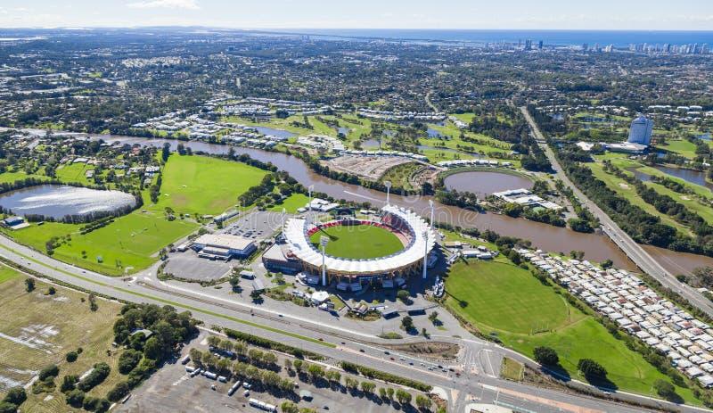 La GOLD COAST, †d'AUSTRALIE «16 juin : Vue aérienne de Metricon Stadi photographie stock libre de droits