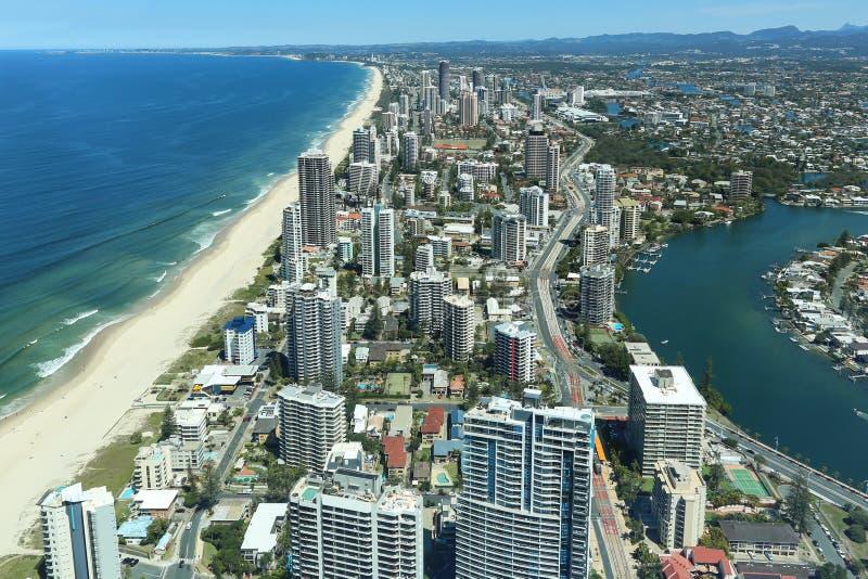 La Gold Coast, paradis de surfers images stock