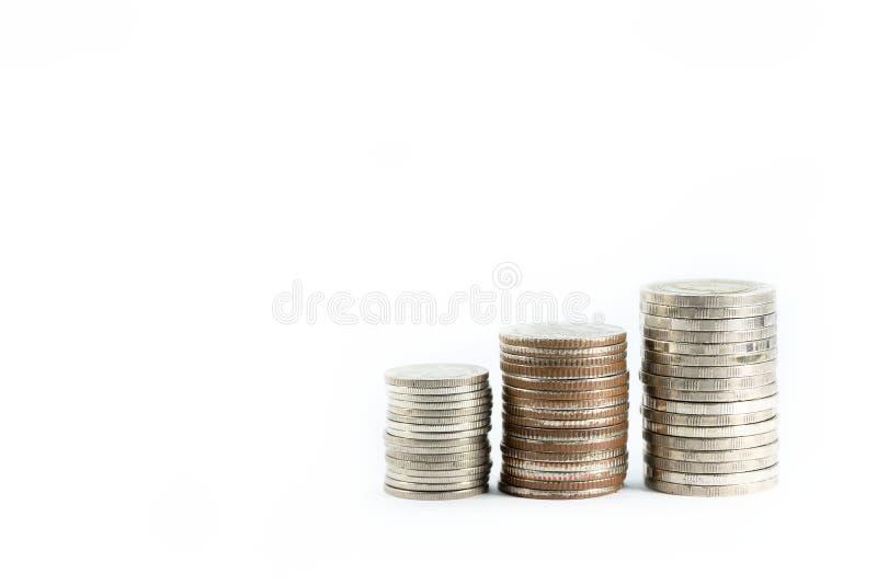 La goma de las monedas de plata está en línea como disciplina imagenes de archivo