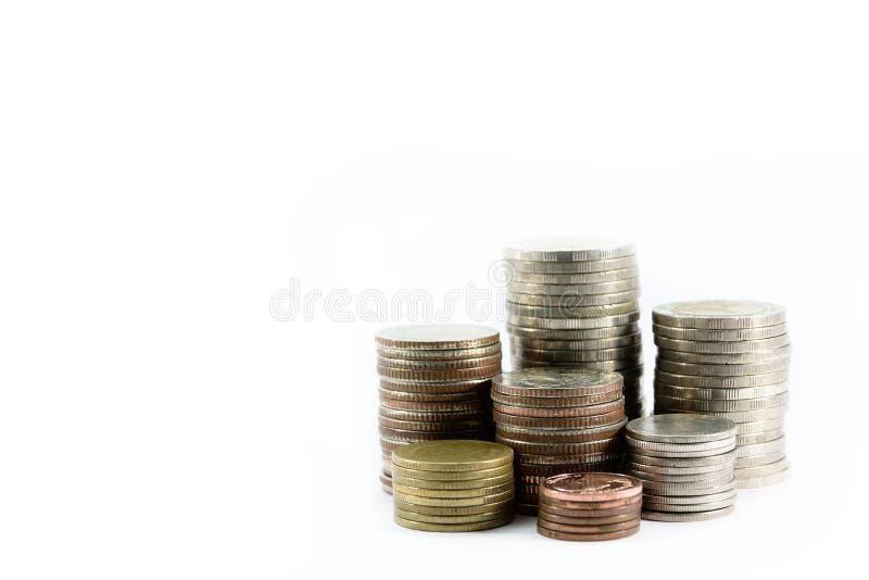 La goma de las monedas de plata está en línea como disciplina fotos de archivo libres de regalías