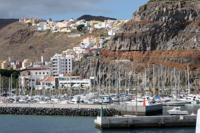 La Gomera. Porto of the island La Gomera stock image