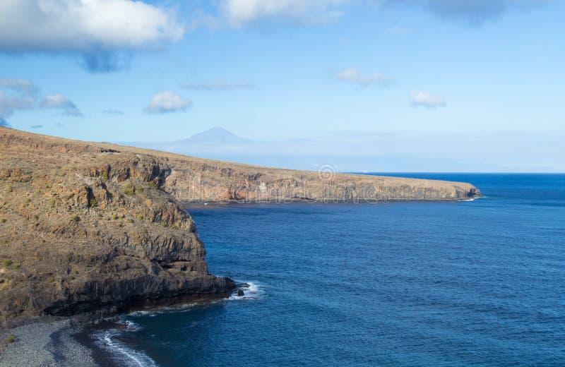 La Gomera, Canary Islands. Beaches Playa Del Medio and Playa Chinguarime at the south of the island stock photos