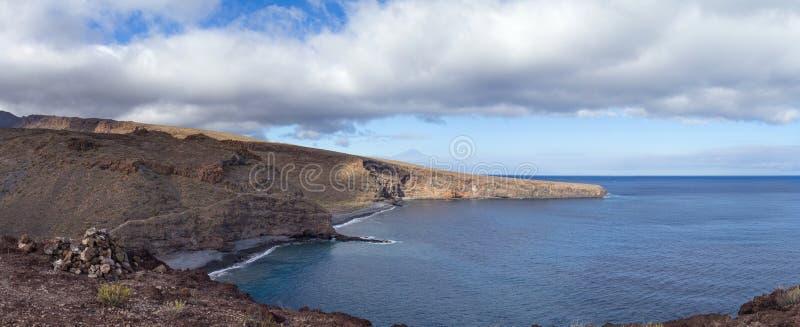 La Gomera, Canary islands. Beaches Playa Del Medio and Playa Chinguarime at the south of the island stock image