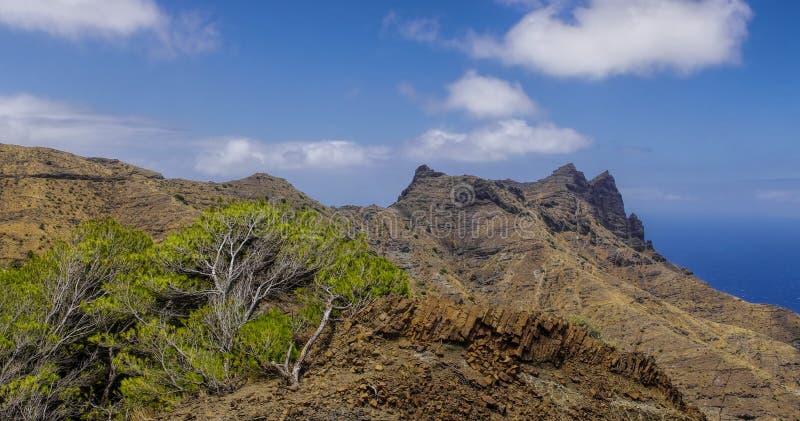 La Gomera, Canary Islands. Rural landscape near Taguluche village, La Gomera, Canary Islands stock photos