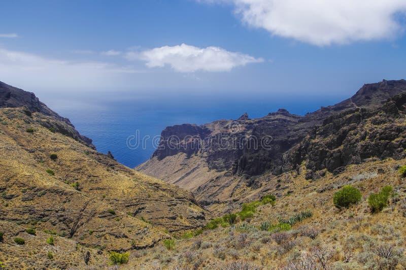 La Gomera, Canary Islands. Rural landscape near Taguluche village, La Gomera, Canary Islands royalty free stock photos