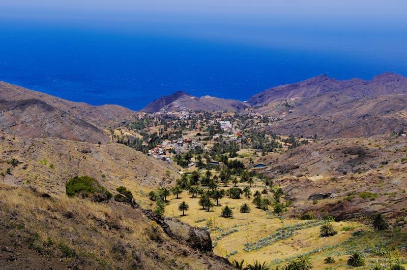 La Gomera, Canary Islands. Rural landscape near Taguluche village, La Gomera, Canary Islands stock images