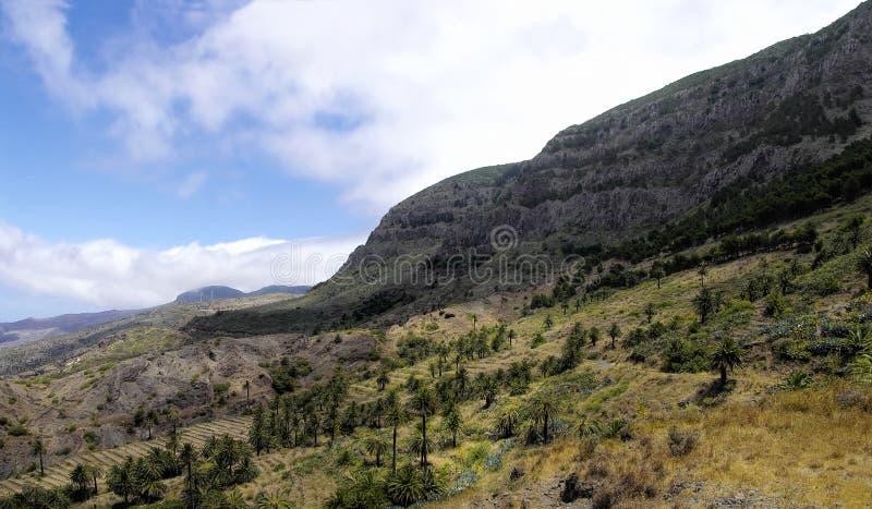 La Gomera, Canary Islands. Rural landscape near Taguluche village, La Gomera, Canary Islands royalty free stock photo