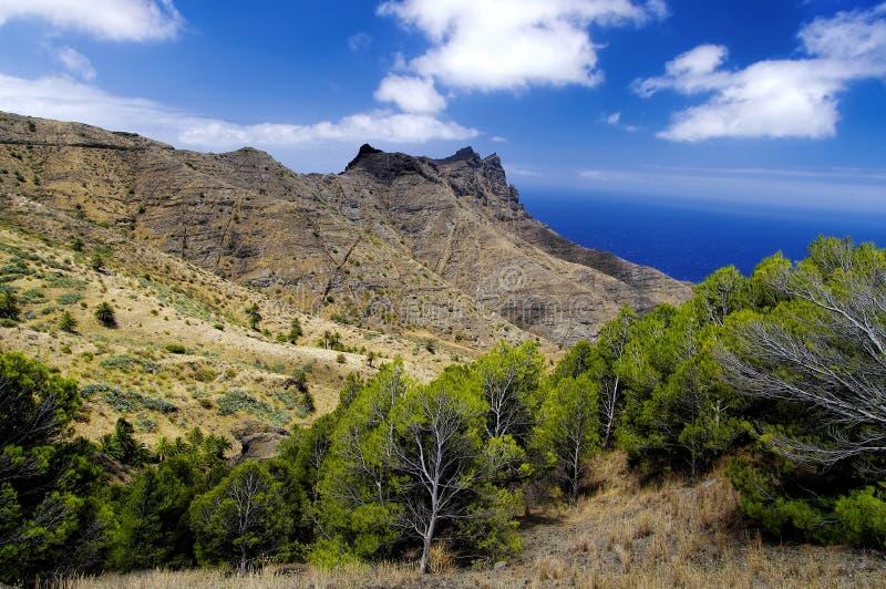 La Gomera, Canary Islands. Rural landscape near Taguluche village, La Gomera, Canary Islands stock photo