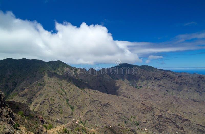 La Gomera, Canary Islands. View from Degollada de Peraza across Barranco de La Laja royalty free stock image
