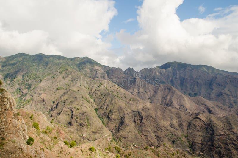 La Gomera, Canary Islands, view from Degollada de Peraza. Spain royalty free stock images
