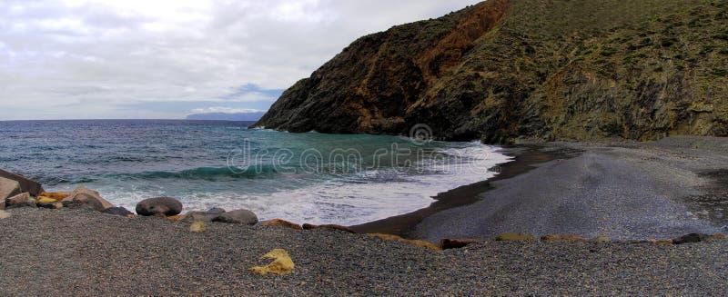 La Gomera, Canary, Spain. The beach near Castillo Del Mar, La Gomera, Canary, Spain royalty free stock photos