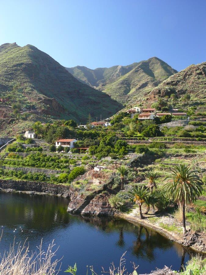 la gomera gór wioski zdjęcie royalty free