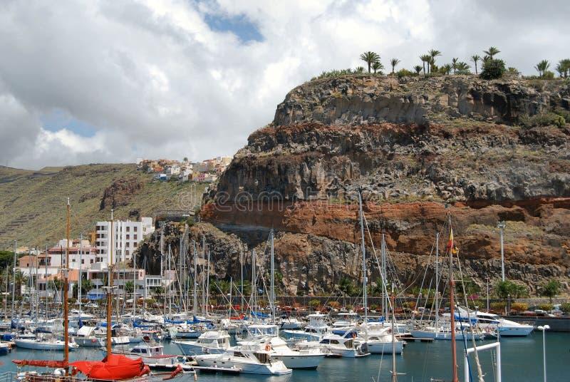 La Gomera. This is the harbour of San Sebastian de La Gomera, Canary Islands, Spain royalty free stock image