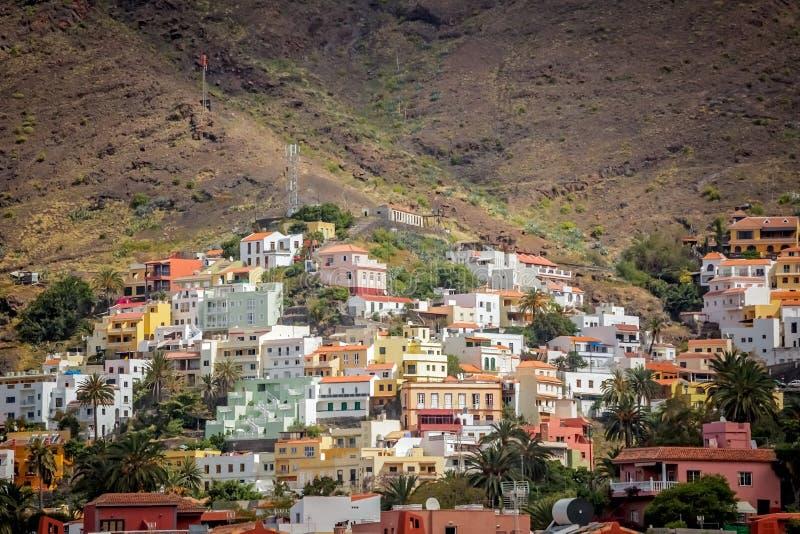La Gomera hillside homes stock photo