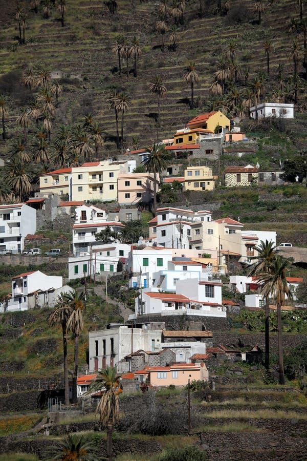 La Gomera hillside homes stock photos