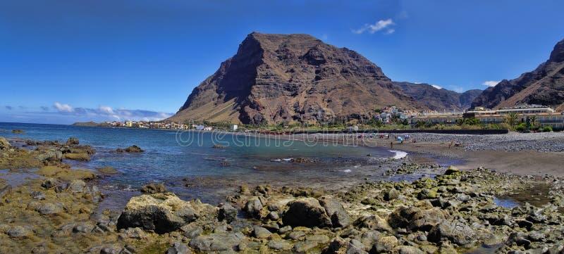 La Gomera Hoofdstrand van Valle Gran Rey royalty-vrije stock afbeeldingen