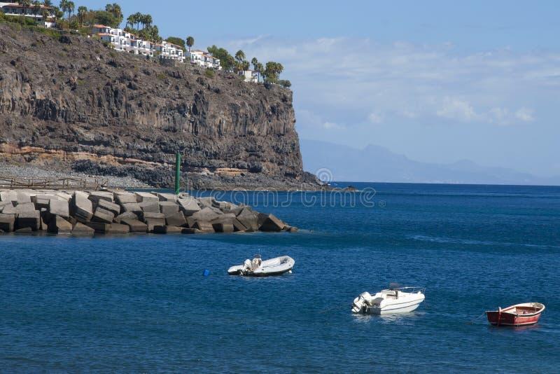 On La Gomera island. Atlantic ocean coast on the south of La Gomera island, Playa de Santiago royalty free stock photography