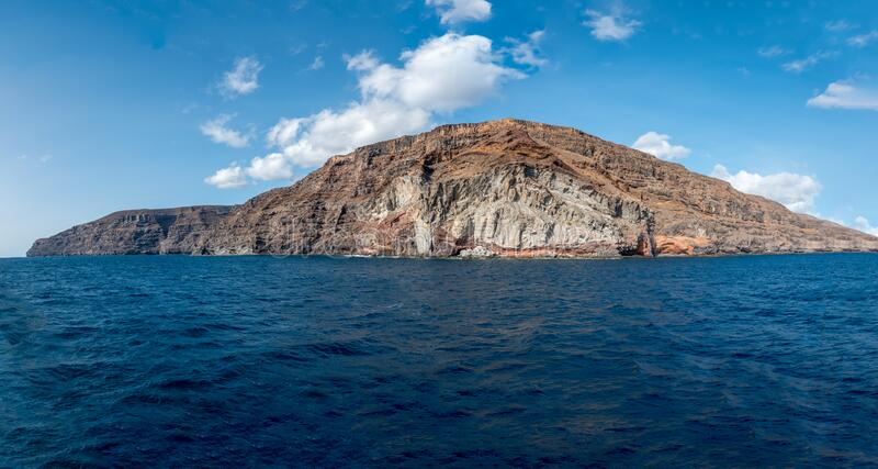 La Gomera. From the sea royalty free stock photos