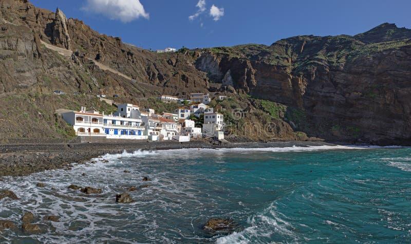 La Gomera - Panorama of Playa de Alojera royalty free stock photography