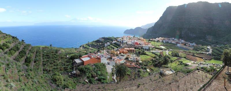 La Gomera panorama royalty free stock image