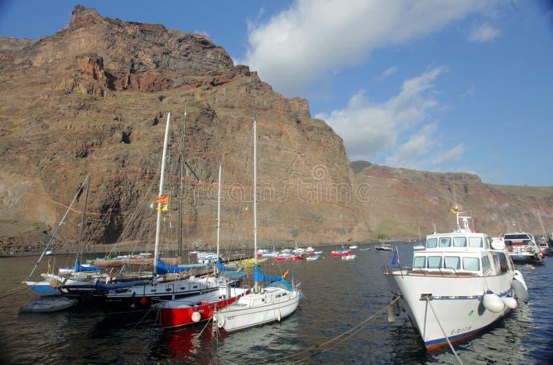 La Gomera port. Canary Islands, Spain stock photography