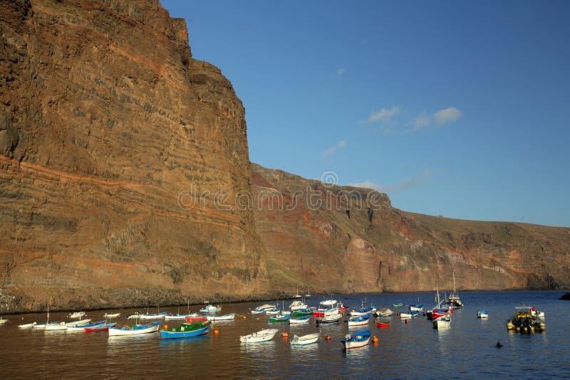 La Gomera port. Canary Islands, Spain royalty free stock image
