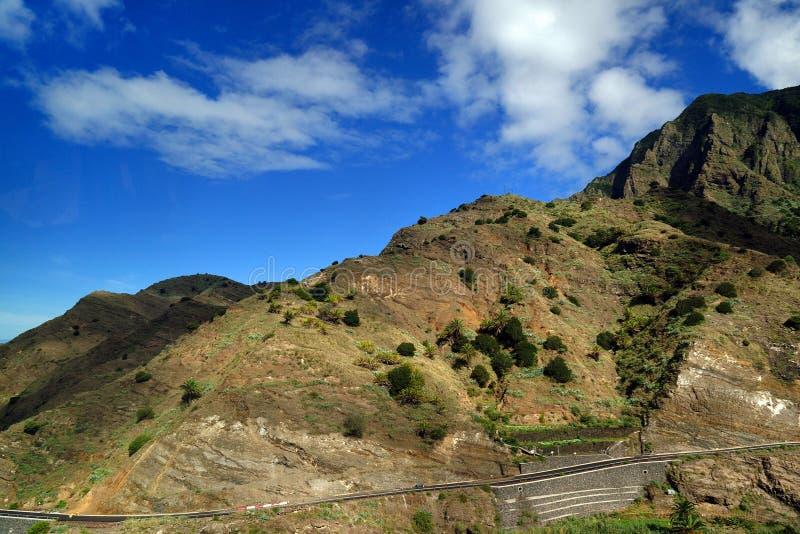 La Gomera, Spain, Europe. Mountains of La Gomera, Spain, Europe royalty free stock photo