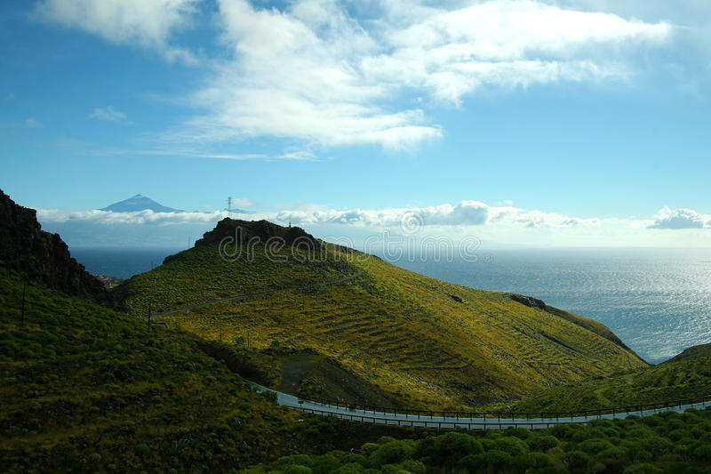 La Gomera, Tenerife royalty-vrije stock afbeelding