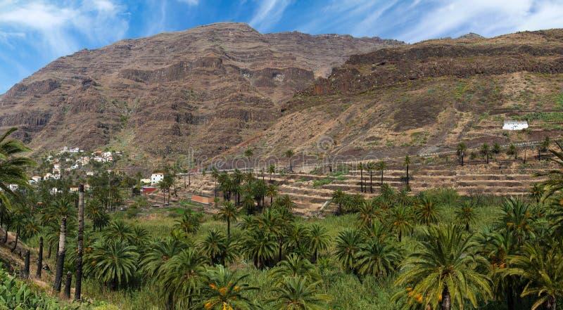La Gomera, Valle Gran Rey stock afbeelding