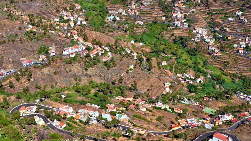 La Gomera, Valle Gran Rey, Canarias fotografia stock libera da diritti