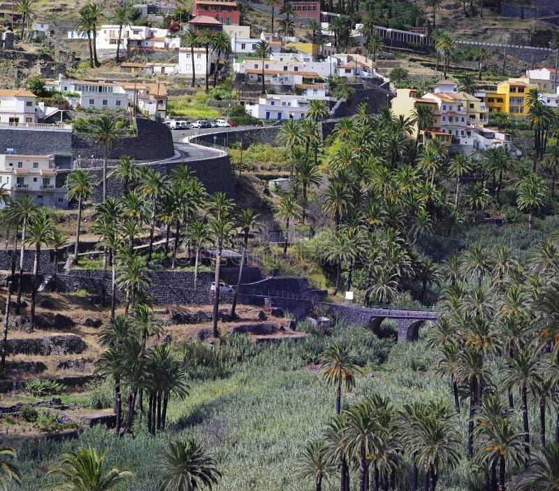 La Gomera. Valle Gran Rey. La Gomera island. The Valle Gran Rey, Canary, Spain royalty free stock images