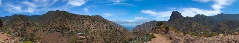 La Gomera, Vallehermoso. Hiking path stock photo