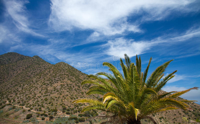 La Gomera, Vallehermoso. View across valley royalty free stock photography
