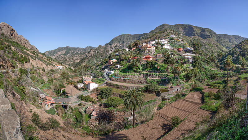 La Gomera - a vila Banda de las Rosas foto de stock