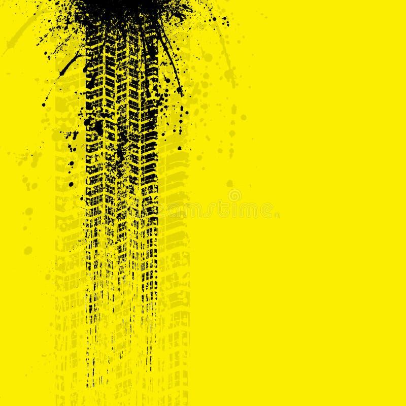 La gomma di lerciume segue il giallo dell'insegna royalty illustrazione gratis