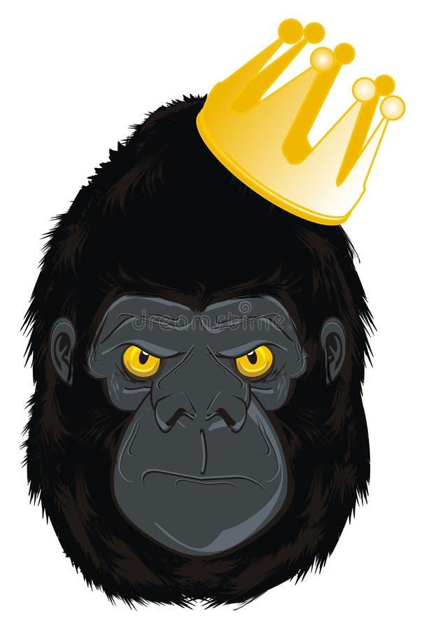 La gorilla è un re royalty illustrazione gratis