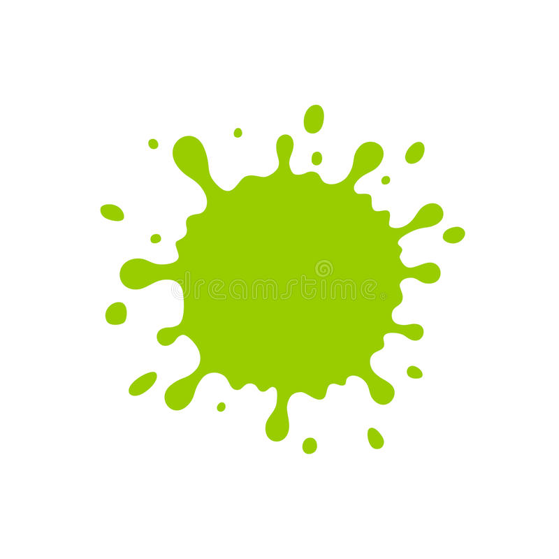 La gota verde stock de ilustración