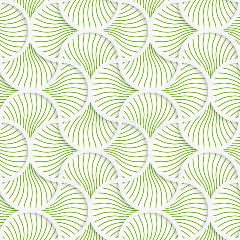 la goupille 3D rayée onduleuse verte grille illustration libre de droits