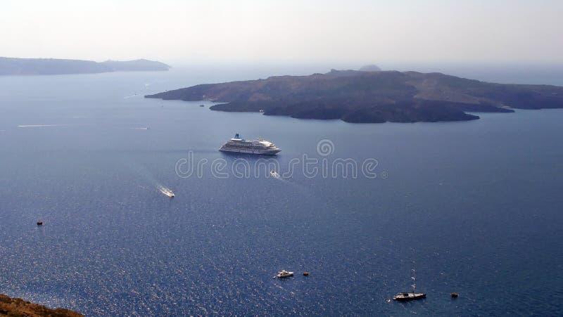 La Grèce, île de Santorini : Baie intérieure photos libres de droits