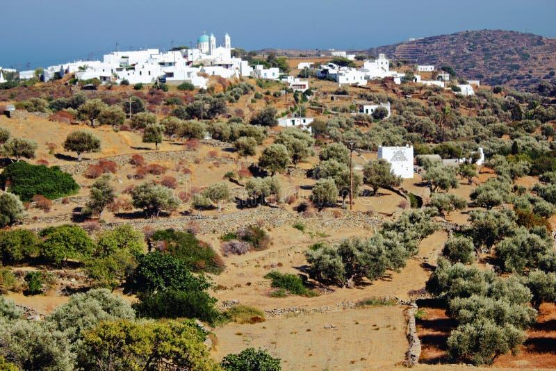 La Grèce, île de Sifnos, paysage près de village d'Ano Petali photographie stock
