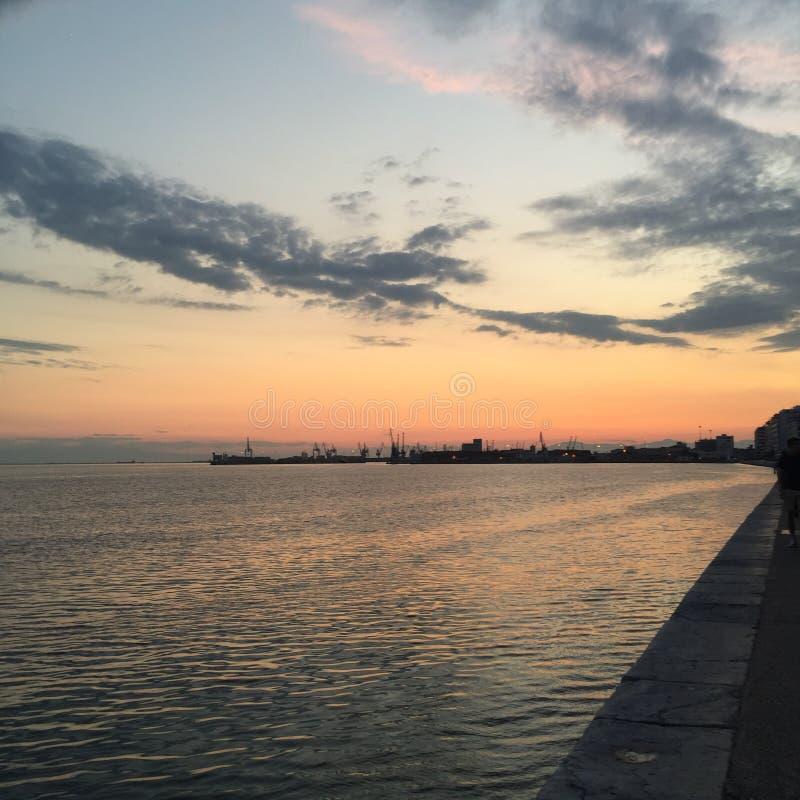 Download La Grèce photo stock. Image du ville, sunset, nature - 56476174