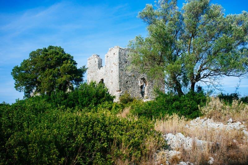 La Grèce - le Kefalonia - le Fiskardo - basilique bizantine tôt photographie stock libre de droits
