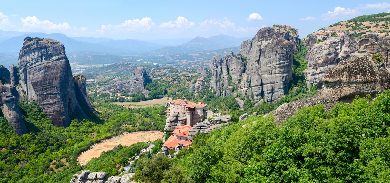 La Grèce, météores photographie stock libre de droits