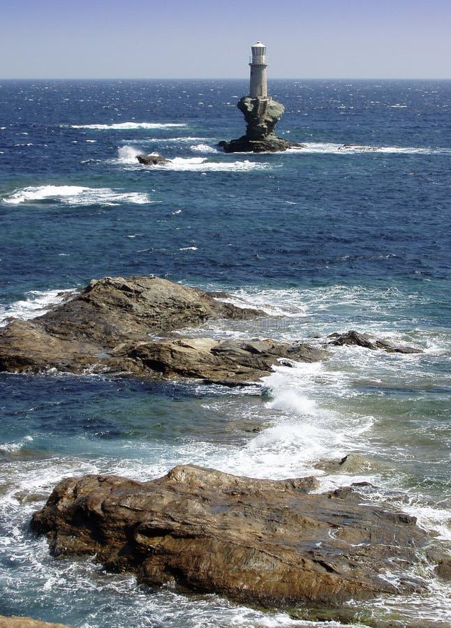 La Grèce, phare photo stock