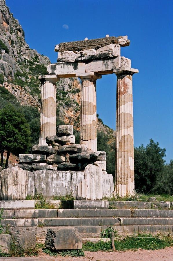 La Grèce, temple d'Afina, Delphes. photographie stock