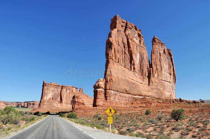 La grès-tour impressionnante a appelé le ` le ` d'organe en parc national de voûtes photo libre de droits