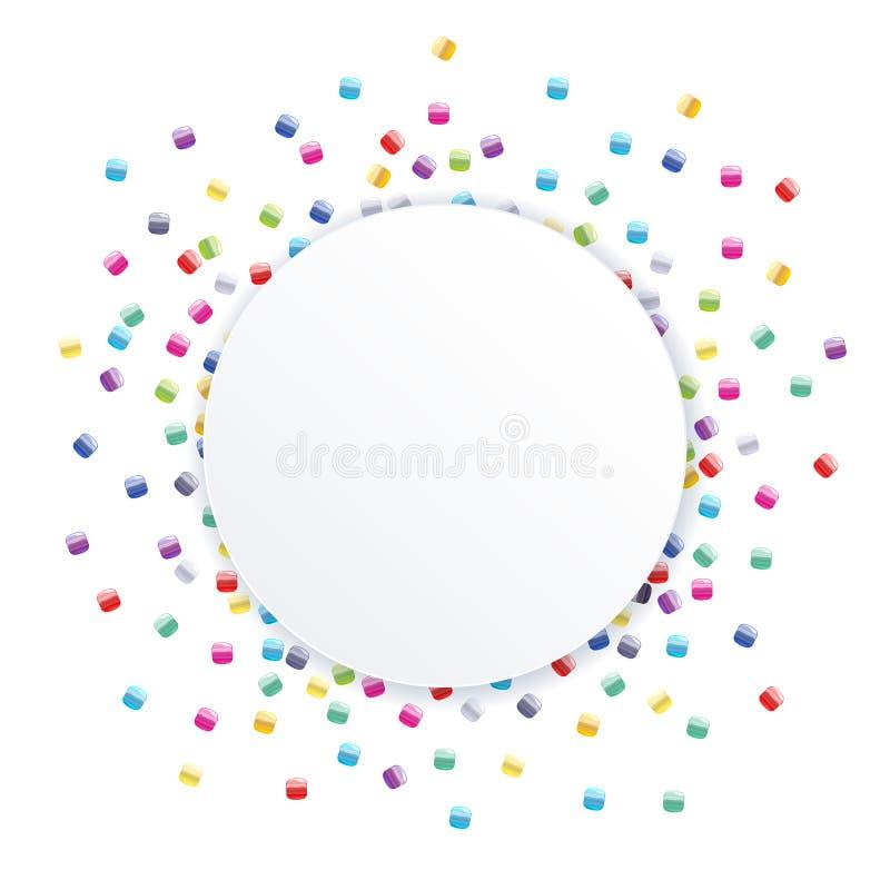 La graine dispersée perle le backgound coloré illustration de vecteur