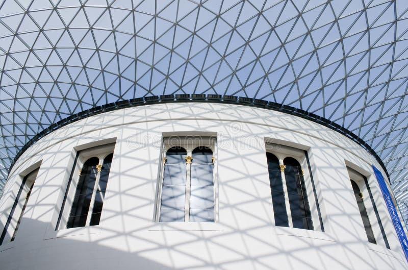La gran corte en British Museum en Londres fotos de archivo