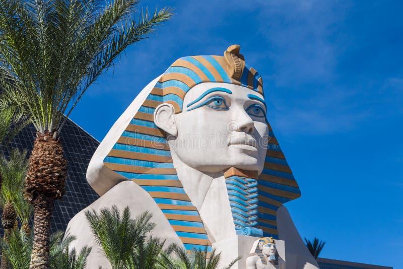 La gran esfinge de Giza en Luxor Las Vegas imagen de archivo libre de regalías